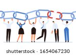 a team of businessmen holds the ...   Shutterstock .eps vector #1654067230