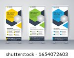 corporate signage roll up...   Shutterstock .eps vector #1654072603