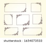 set of vector retro frames with ... | Shutterstock .eps vector #1654073533