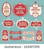 christmas design elements.... | Shutterstock .eps vector #165407390