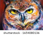 Pastel Portrait Painting. Owl...