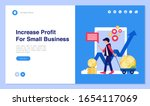 web page design with business... | Shutterstock .eps vector #1654117069