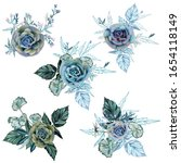 collection of vector succulents ... | Shutterstock .eps vector #1654118149