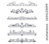 vintage ornamental dividers.... | Shutterstock .eps vector #1654135099