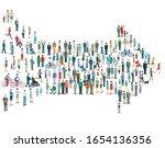 citizens signpost direction ... | Shutterstock .eps vector #1654136356