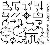 arrows. black signs.... | Shutterstock . vector #1654140976