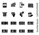 ticket vector flat icons set...   Shutterstock .eps vector #1654149340