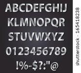 Metal Letters Style Alphabet...