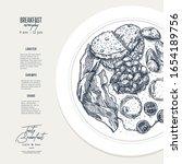 english breakfast plate... | Shutterstock .eps vector #1654189756