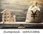 Money Bag With Yen   Yuan And...