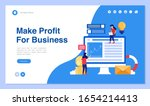 web page design with business... | Shutterstock .eps vector #1654214413