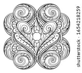vector abstract black and white ...   Shutterstock .eps vector #1654218259