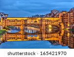 Ponte Vecchio In Florence At...