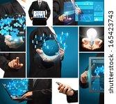 business technology idea... | Shutterstock . vector #165423743