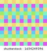 Checkered Polka Dot Background  ...