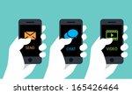 mobile phone service  | Shutterstock .eps vector #165426464