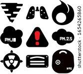 calima sandstorm icon set.... | Shutterstock .eps vector #1654265860