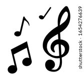note icon vector. music... | Shutterstock .eps vector #1654276639