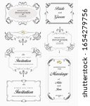 big collection of ornate vector ... | Shutterstock .eps vector #1654279756