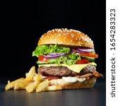Fresh Tasty Burger With Crunchy ...
