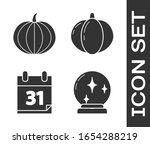 set magic ball   pumpkin  ...   Shutterstock .eps vector #1654288219
