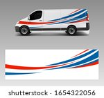 vehicle decal wrap design cargo ... | Shutterstock .eps vector #1654322056