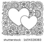 rectangular flower pattern with ... | Shutterstock .eps vector #1654328383