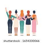 femenism and girl power concept....   Shutterstock .eps vector #1654330066
