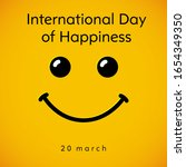 international day of happiness... | Shutterstock .eps vector #1654349350