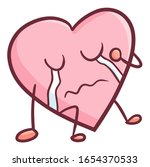 funny and cute heart character... | Shutterstock .eps vector #1654370533