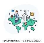 businessmen shake hands with... | Shutterstock .eps vector #1654376530