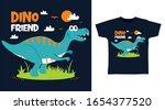 Cute Dino Friend Design Vector...