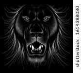 the vector logo lion for tattoo ...   Shutterstock .eps vector #1654388080