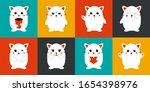 cute kawaii cat set. funny...   Shutterstock .eps vector #1654398976