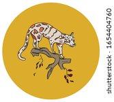 cute jaguar  cheetah  on a...   Shutterstock .eps vector #1654404760