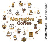 third wave alternative coffee...   Shutterstock .eps vector #1654408030