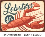 Lobsters And Crabs Vintage...