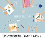 creative handmade workshop... | Shutterstock .eps vector #1654413433