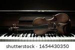 Violin On Piano Keys Top.