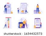 digital bank ui illustrations...
