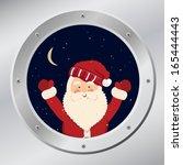 Santa Claus In Porthole In...
