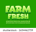 vector green logo farm fresh... | Shutterstock .eps vector #1654462759