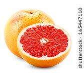 grapefruit with half isolated... | Shutterstock . vector #165447110