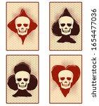 poker casino cards with skull ...   Shutterstock .eps vector #1654477036