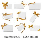 collection of various note card ... | Shutterstock . vector #165448358