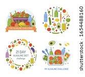 set of emblems for alkaline... | Shutterstock .eps vector #1654488160
