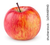 Red Yellow Apple Isolated On...