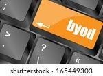 byod keyboard key of a notebook ... | Shutterstock . vector #165449303