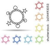 bracelet in multi color style...