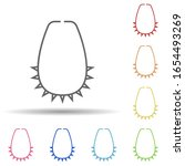 necklace in multi color style...